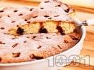 Рецепта Лесен сладкиш с вишни и ванилия (с бакпулвер)